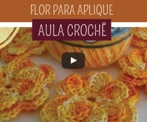 Como Fazer Flor para Aplicação em Tapete de Crochê