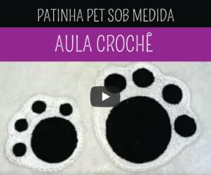 Como Fazer Patinha Pet de Crochê