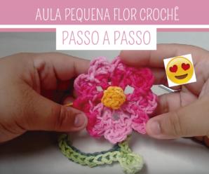 Como Fazer Flor de Crochê Pequena