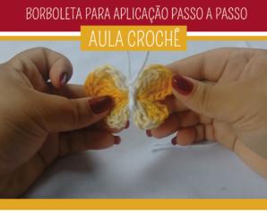 Como fazer Borboleta de Crochê para Aplicar em Tapete