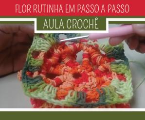 Como Fazer Flor de Crochê Rutinha