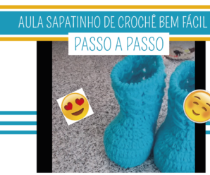 Aprenda Como Fazer Sapatinho de Crochê Bem Fácil – Elaine Teixeira