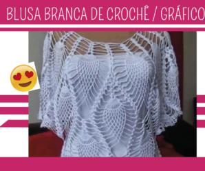 Como Fazer Blusa Branca em Crochê com Gráfico