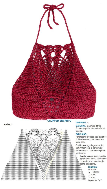 ideia cropped de croche com gráfico