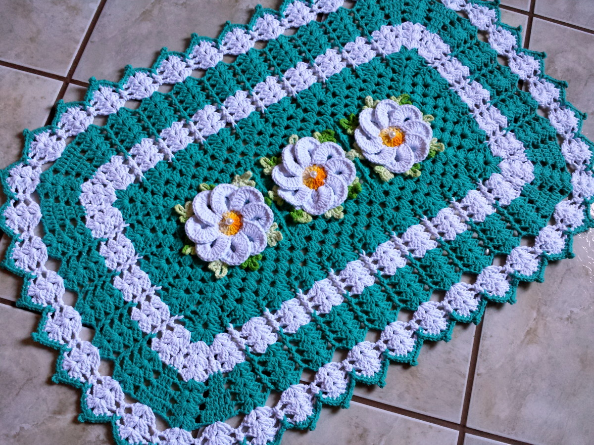 Tapete De Croch Barbante 2018 Como Fazer Croch Passo A Passo -> Tapete De Croche Oval Simples Passo A Passo