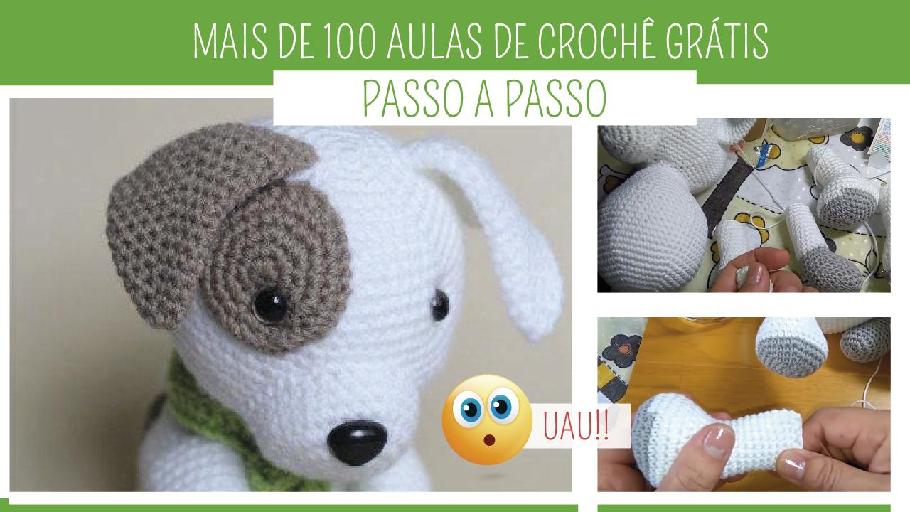Mais de 100 Aulas de Crochê Online Grátis no blog Amo Fazer Crochê