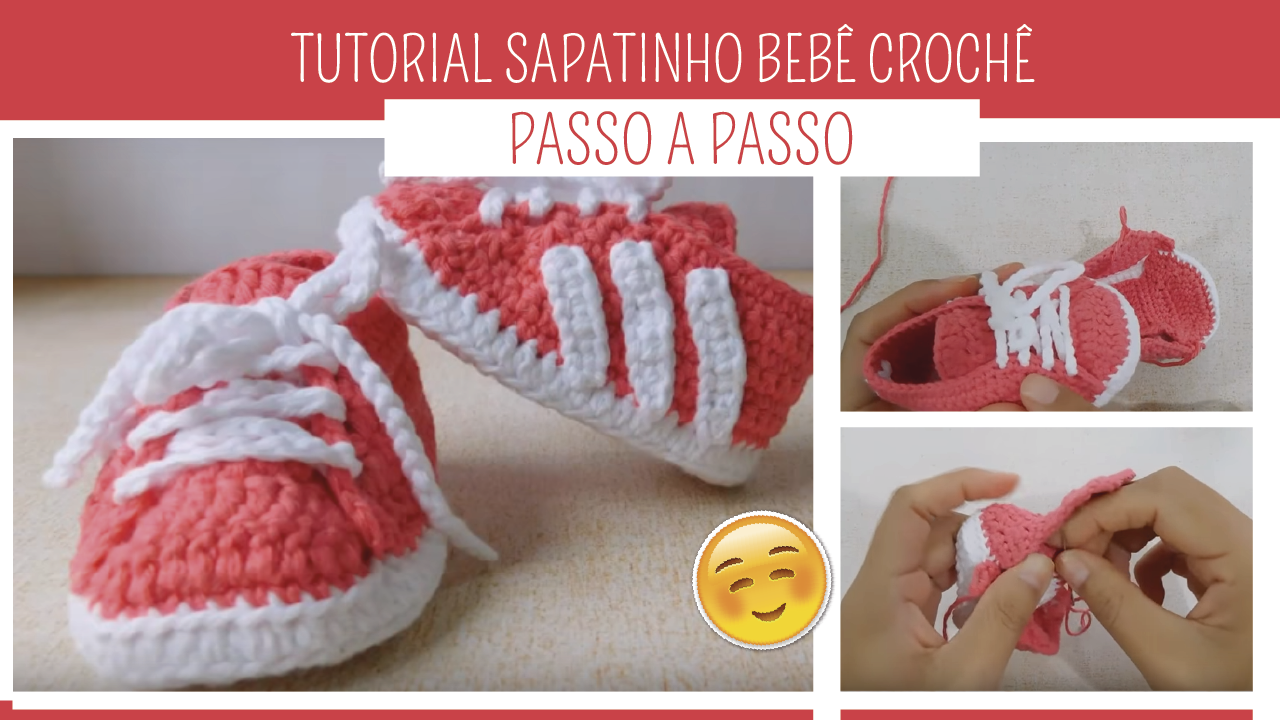 Como Fazer Sapatinho de Crochê Bebê Passo a Passo
