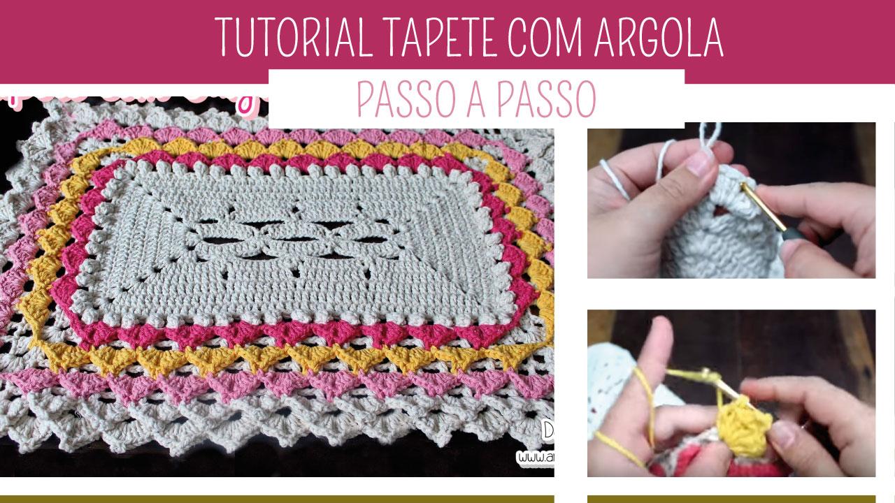 Aprenda Como fazer Tapete de Crochê com Argola