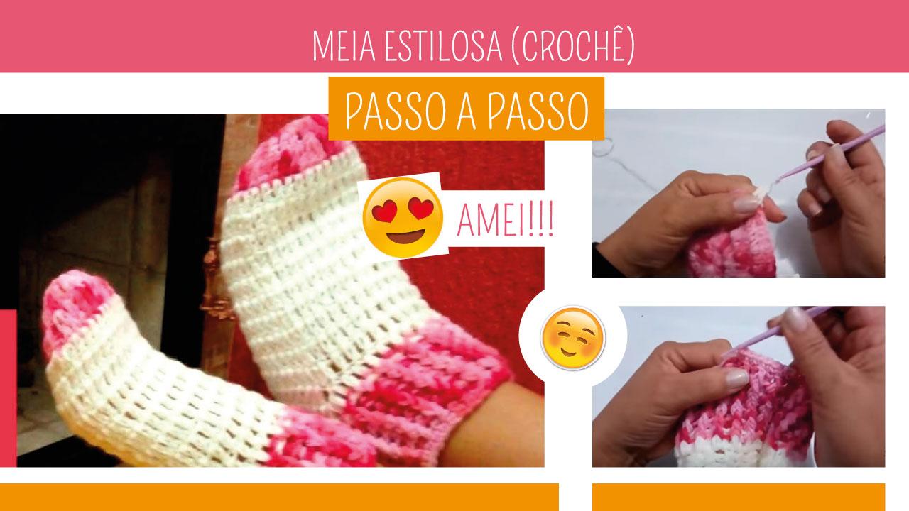 Como Fazer Meia de Crochê