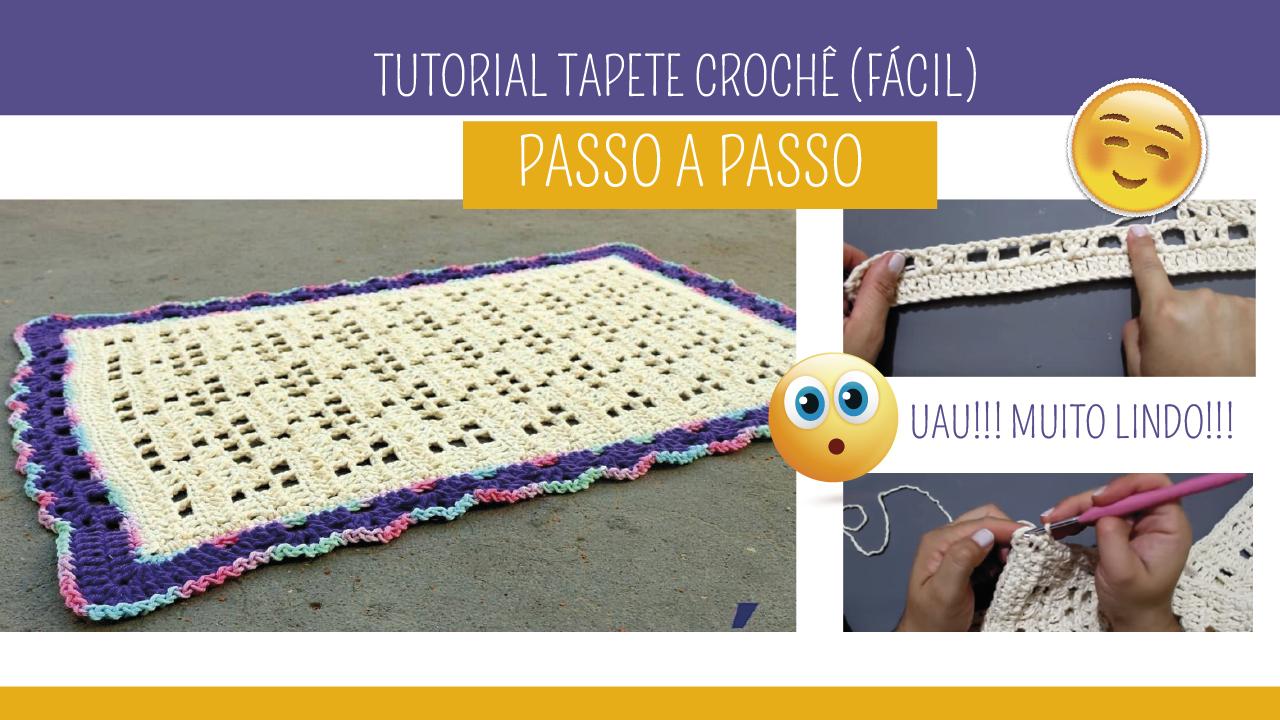 Como fazer Tapete de Crochê Fácil