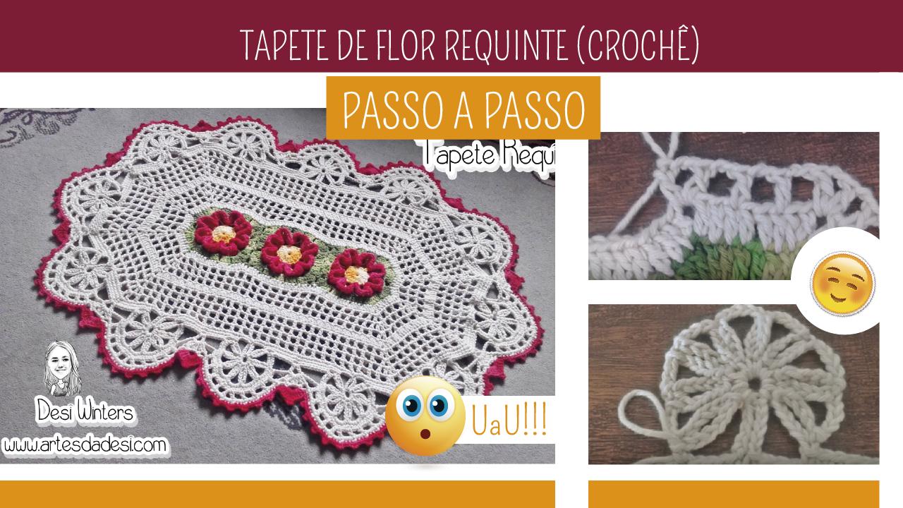 Como Fazer Tapete de Crochê Flor Requinte