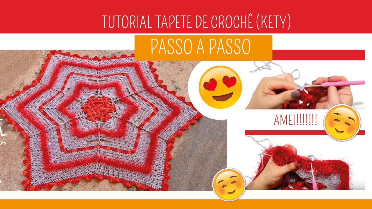Como Fazer Tapete de Crochê Kety