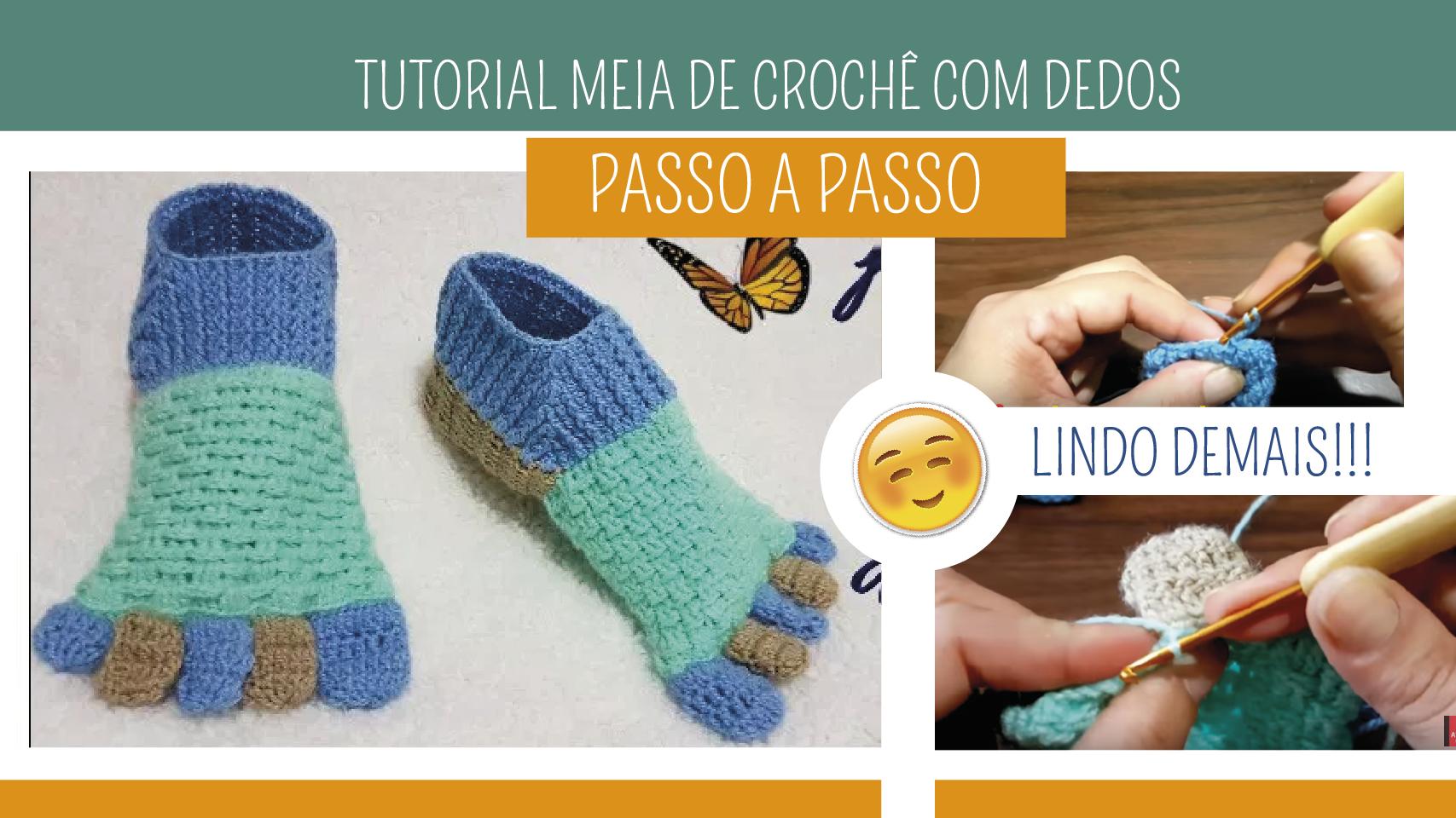Como Fazer Meia de Crochê com Dedos