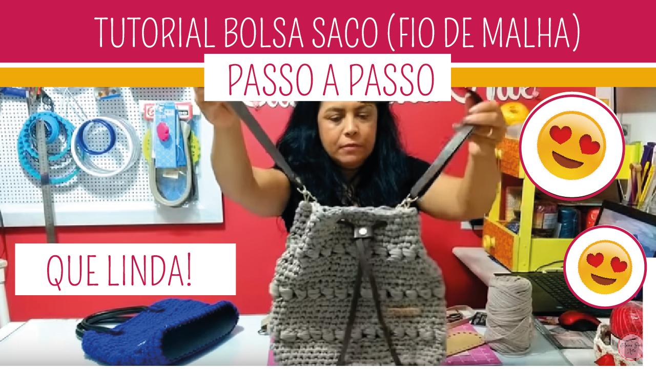 Como Fazer Bolsa Saco em Crochê Fio de Malha