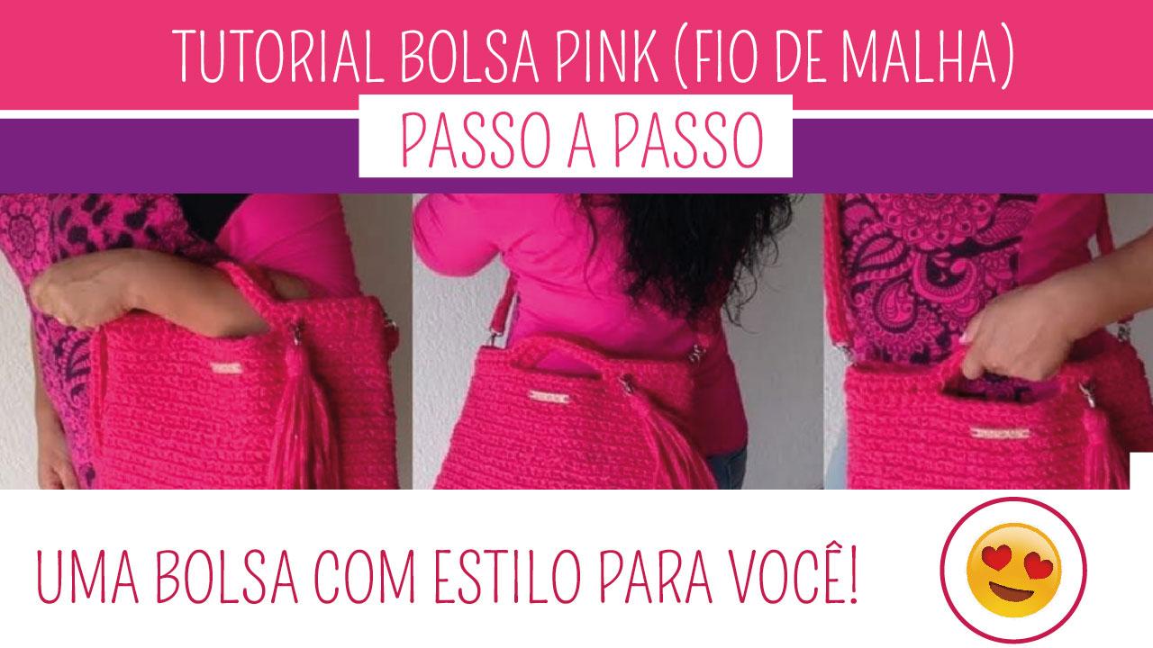 Como Fazer Bolsa de Crochê Pink