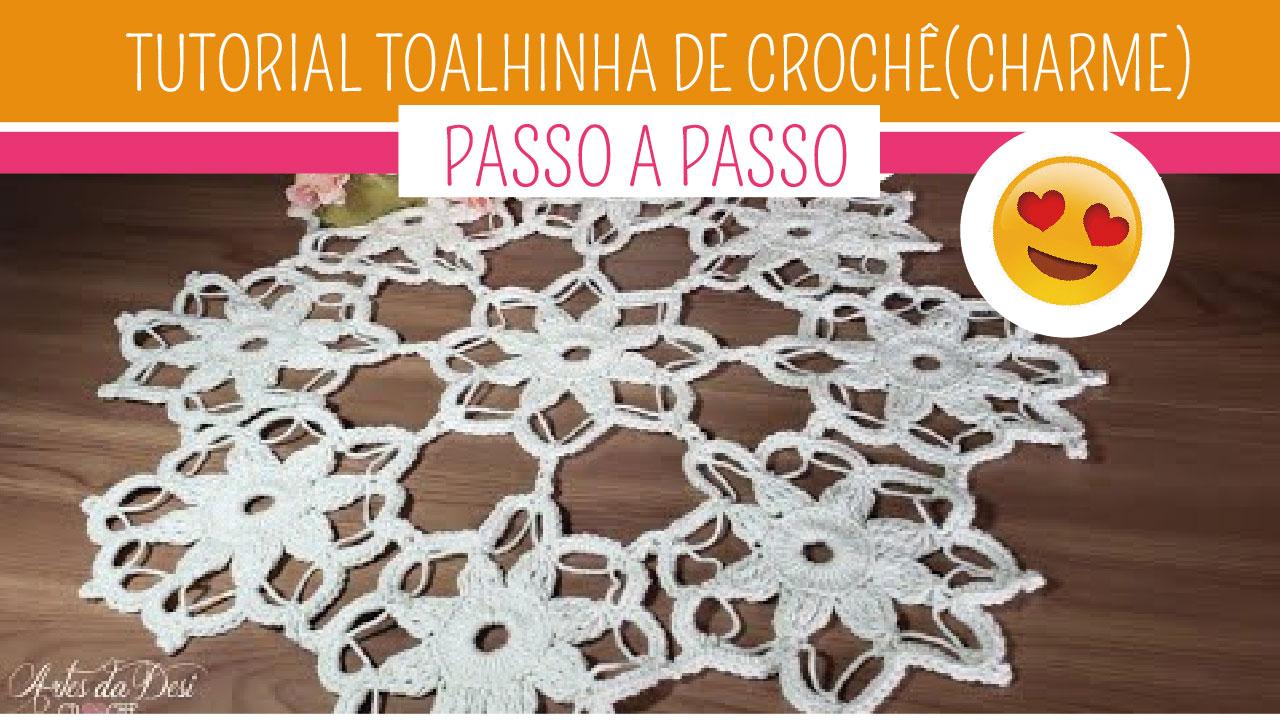 Como Fazer Toalhinha de Crochê Centro de Mesa Charme