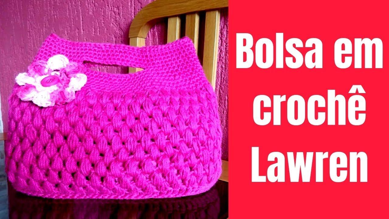 Como Fazer Bolsa em Crochê com Aplique de Flor