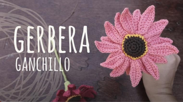 Flor de Crochê Gerbera