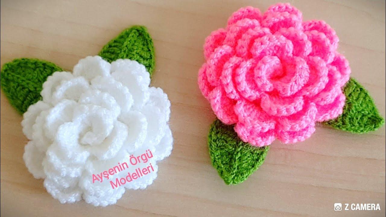 Flor de Crochê Simples para Enfeite