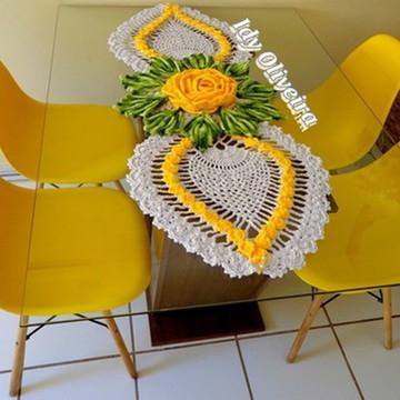 Caminho de Mesa Abacaxi com Mega Flor