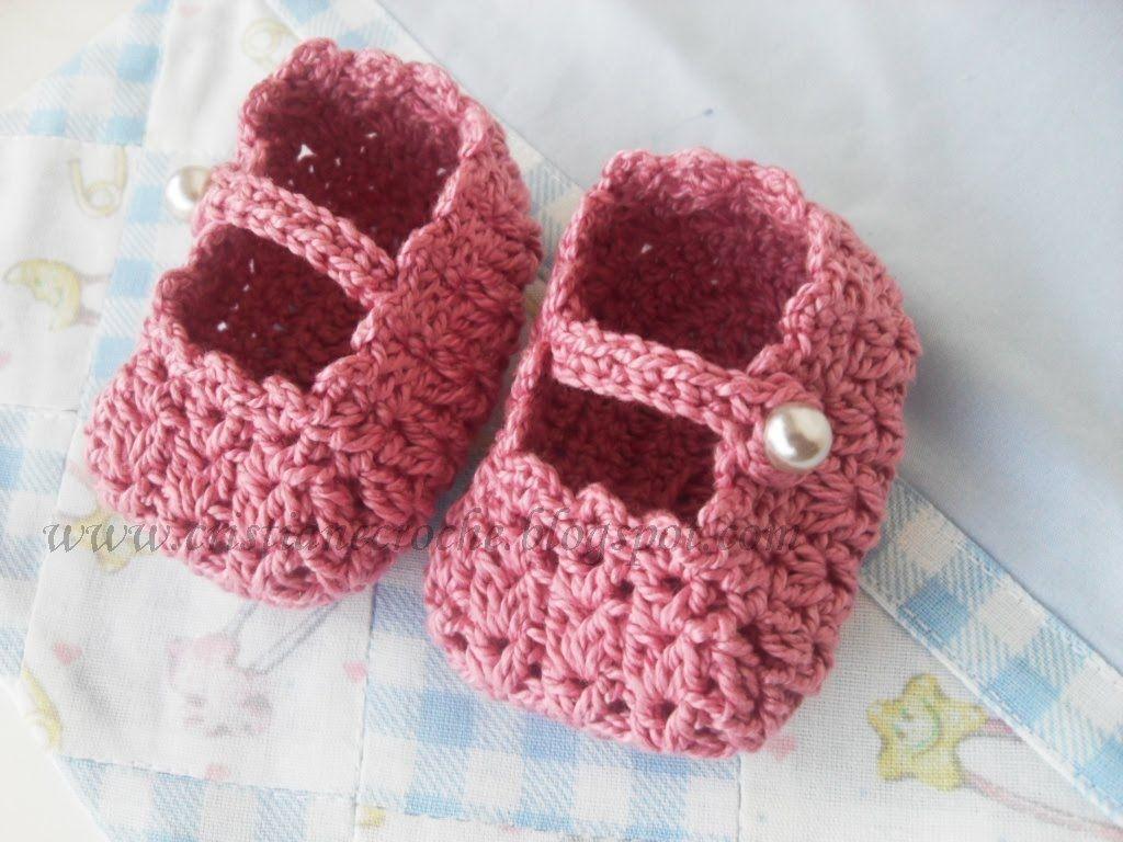 Sapatinho de Crochê Recém Nascido [Inspiração + Passo a Passo]