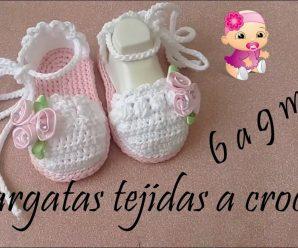 Alpargatas de Crochê para Meninas de 6 a 9 meses