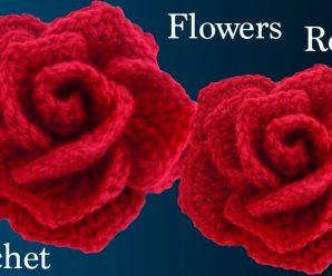 Rosa de Crochê Fácil e Bonita