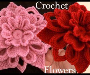 Como fazer Flor de Crochê 3d Irlandesa