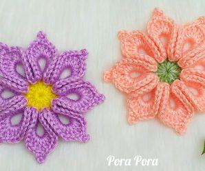 Como fazer Flor de Crochê Multi-Pétalas