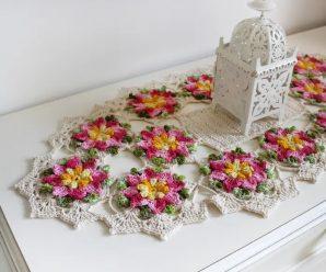 Caminho de Mesa Floral [Inspiração + Passo a Passo]