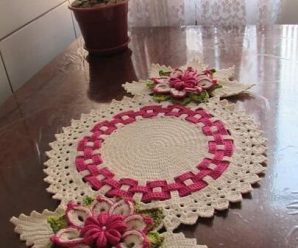 Centro de Mesa em Crochê com Flores [Inspiração + Passo a Passo] #3