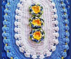 Tapete de Crochê com Flor [Inspiração + Passo a Passo]