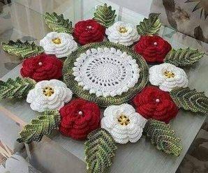 Toalha de Crochê Floral [Inspiração + Passo a Passo] #2