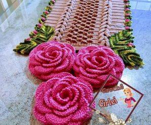 Trilho de Mesa em Crochê Simples [Inspiração + Passo a Passo] #2