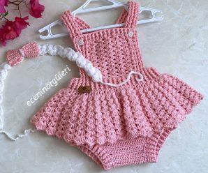 Vestidinho de Crochê Rosa para Princesa